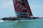 Emirates Team New Zealand . Testing on the Hauraki Gulf. 27/11/2012