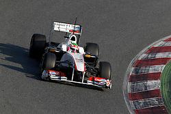 Motorsports / Formula 1: World Championship 2011, Testing in Barcelona, test, Sergio Perez ( MEX, Sauber F1 Team )