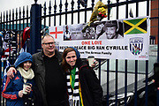 Tributes to the late Cyrille Regisduring the Premier League match between West Bromwich Albion and Southampton at The Hawthorns, West Bromwich, England on 3 February 2018. Picture by Dennis Goodwin.