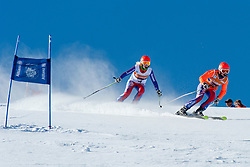 GALLAGHER Kelly Guide EVANS Charlotte, GBR, Super G, 2013 IPC Alpine Skiing World Championships, La Molina, Spain