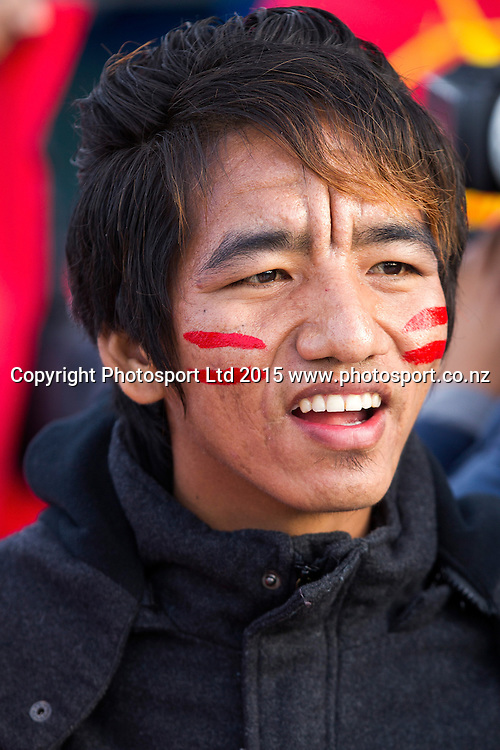 Myanmar Supporter at the Group A FIFA U20 World Cup Match between USA and Myanmar at Northlands Event Centre, Whangarei, Northland, New Zealand, Saturday, May 30, 2015. Copyright photo: David Rowland / www.photosport.co.nz