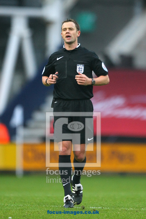 Referee Stuart Attwell during the FA Cup match at Deepdale, Preston<br /> Picture by Paul Chesterton/Focus Images Ltd +44 7904 640267<br /> 03/01/2015