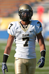 October 10, 2009; San Jose, CA, USA;  Idaho Vandals wide receiver Preston Davis (7) before the game against the San Jose State Spartans at Spartan Stadium.  Idaho won 29-25.