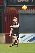 Michael Jacobs of Wigan Athletic  kicks forward during the Sky Bet League 1 match between Scunthorpe United and Wigan Athletic at Glanford Park, Scunthorpe, England on 2 January 2016. Photo by Ian Lyall.