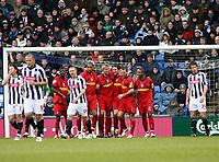 Photo: Mark Stephenson/Richard Lane Photography. <br /> West Bromwich Albion v Colchester United. Coca-Cola Championship. 29/03/2008. <br /> Colcherter players celebrate Chris Coyne ( 3ed from R ) goal for 1-0