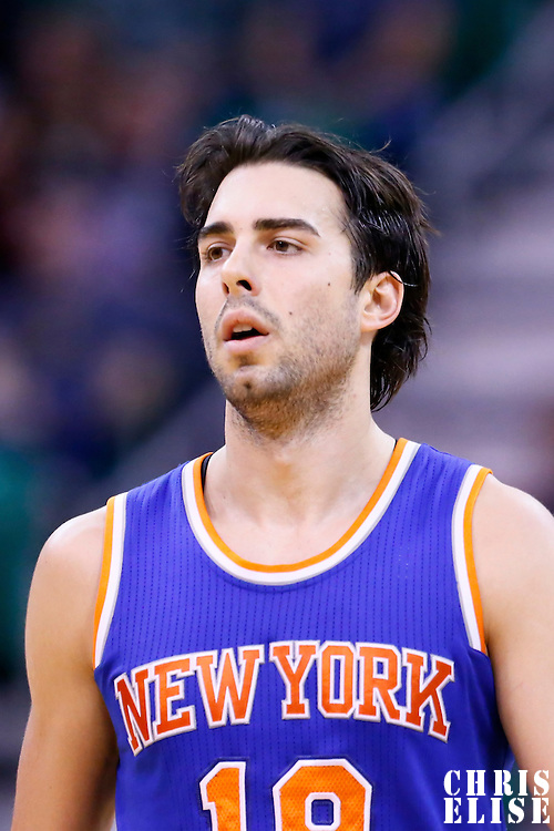 09 December 2015: New York Knicks guard Sasha Vujacic (18) is seen during the Utah Jazz 106-85 victory over the New York Knicks, at the Vivint Smart Home Arena, Salt Lake City, Utah, USA.