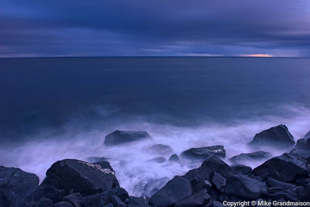 Stormy waters on the shoreloine of the Gulf of St. Lawrence. Gaspe Peninsula. <br />