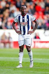 Saido Berahino of West Brom looks on - Mandatory byline: Rogan Thomson/JMP - 07966 386802 - 28/07/2015 - SPORT - Football - Walsall, England - Besot Stadium - Walsall v West Bromwich Albion - 2015/16 Pre Season Friendly.