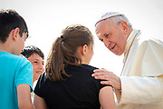 June 06, 2018: Pope Francis arrives for his weekly general audience in St. Peter's Square at the vatican