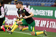 Norwich City defender Christoph Zimmermann (6) warming up before the FA Cup match between Burnley and Norwich City at Turf Moor, Burnley, England on 25 January 2020.