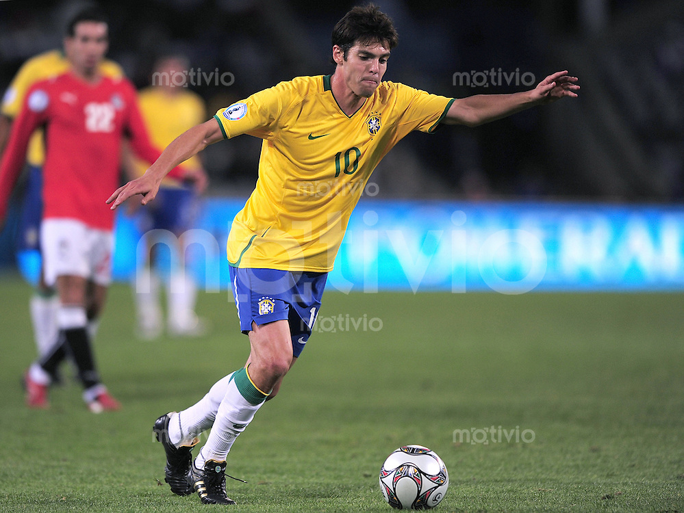 Fussball  International FIFA Confederations Cup 2009 Brasilien - Aegypten Kaka (BRA)  am Ball