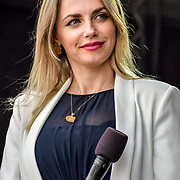 Myriam Francois presenters at the Eid festival in Trafalgar Square London to mark the end of Ramadan on 8 June 2019, London, UK.