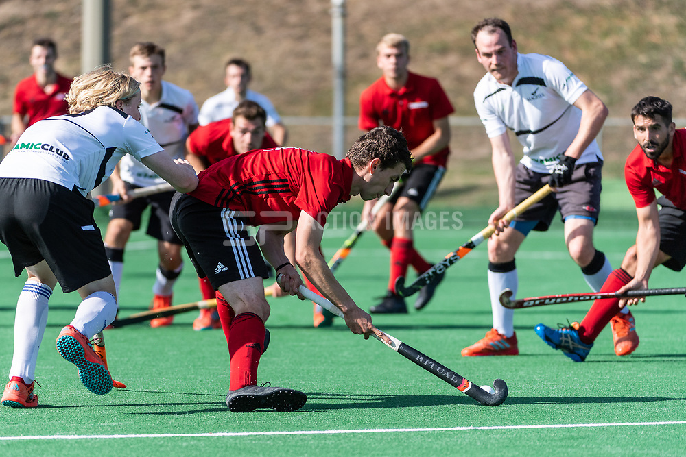 Southgate v Harleston Magpies at Southgate Hockey Centre, Trent Park, London, England on 15 September 2019.<br /> Photo by Simon Parker/SP Action Images