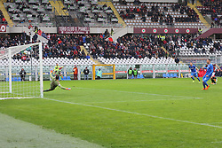 March 18, 2018 - Turin, Piedmont, Italy - Cyril Thereau of ACF Fiorentina marks the penalty kick of the victory during the Serie A football match between Torino FC and ACF Fiorentina at Olympic Grande Torino Stadium on 18 March, 2018 in Turin, Italy. Final results: 1-2  (Credit Image: © Massimiliano Ferraro/NurPhoto via ZUMA Press)