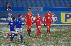 CESENA, ITALY - Tuesday, January 22, 2019: Wales' Jessica Fishlock looks dejected as Italy score a second goal during the International Friendly between Italy and Wales at the Stadio Dino Manuzzi. (Pic by David Rawcliffe/Propaganda)