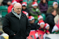 Dragons' Head Coach Bernard Jackman during the pre match warm up<br /> <br /> Photographer Simon King/Replay Images<br /> <br /> Guinness Pro14 Round 11 - Dragons v Cardiff Blues - Tuesday 26th December 2017 - Rodney Parade - Newport<br /> <br /> World Copyright &copy; 2017 Replay Images. All rights reserved. info@replayimages.co.uk - www.replayimages.co.uk