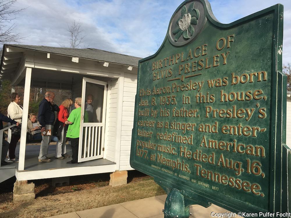 Elvis Presley childhood home in Tupelo, Mississippi.