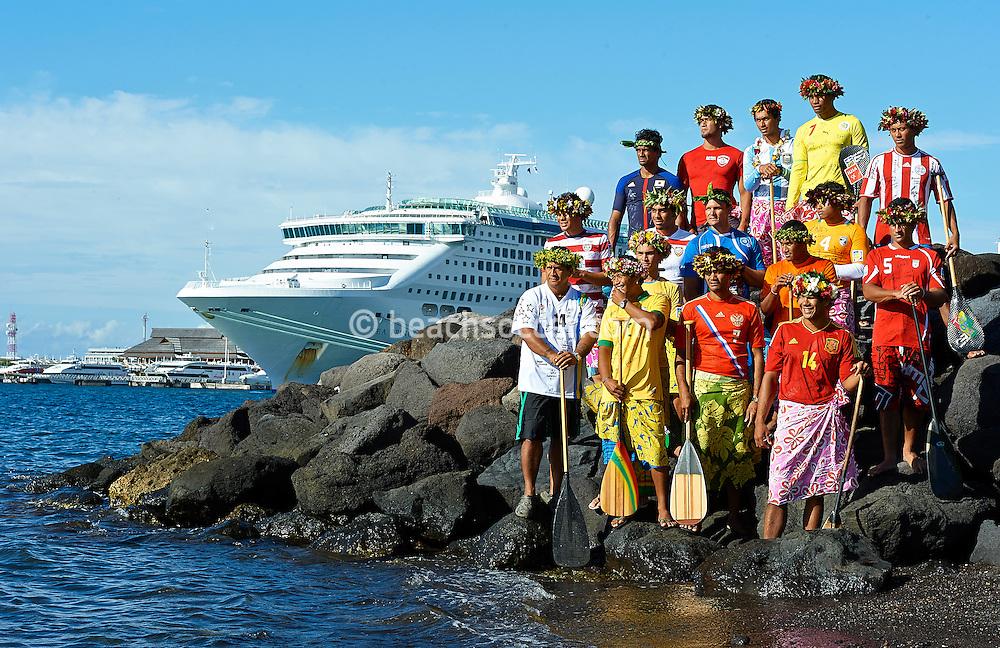PAPEETE, TAHITI - SEPTEMBER 24:  FIFA Beach Soccer World Cup Tahiti 2013 at Stadium Tahua To´ata  on October 24, 2013 in Papeete, Tahiti. (Photo by Manuel Queimadelos)