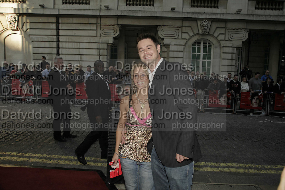 JO MAS AND DANNY DYER, UK premiere for Pedro Almodovar's Volver. Curzon Mayfair and afterwards at the Mirabelle. London. 3 August 2006. ONE TIME USE ONLY - DO NOT ARCHIVE  © Copyright Photograph by Dafydd Jones 66 Stockwell Park Rd. London SW9 0DA Tel 020 7733 0108 www.dafjones.com
