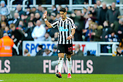 Ayoze Perez (#17) of Newcastle United celebrates Newcastle United's third goal (3-2) during the Premier League match between Newcastle United and Everton at St. James's Park, Newcastle, England on 9 March 2019.