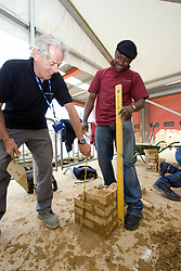 Student and tutor on a Construction course at Barnet College North London