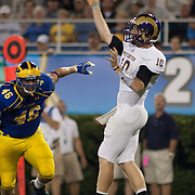 West Chester quarterback Sean McCartney (10) passes the ball for 13 yards and a first down during a Week 1 NCAA football game against Delaware in the first quarter Thursday, Aug. 30, 2012. at Delaware Stadium in Newark Delaware...#15 Delaware defeated West Chester 41-21 in their home opener at Delaware Stadium Thursday Aug. 30, 2012 in Newark Delaware...Delaware will return home Sept. 8, 2012 at 3:30pm for a showdown with interstate Rival Delaware State in the Route 1 Rivalry Bowl at Delaware Stadium.