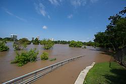 Flooded park in Houston