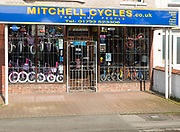 Specialist cycle shop, Mitchell Cycles, central Swindon, Wiltshire, England, UK