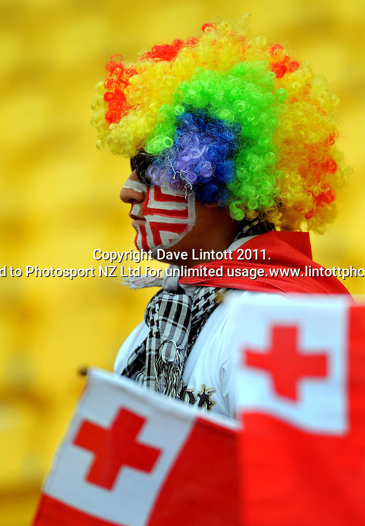A costumed fan. IRB Wellington Sevens - Day One at Westpac Stadium, Wellington, New Zealand on Friday, 4 February 2011. Photo: Dave Lintott / photosport.co.nz