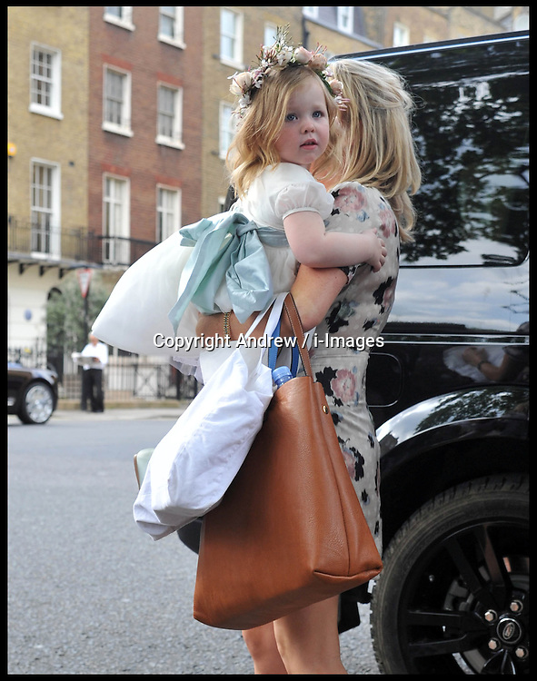 Bridesmaids arriving at the wedding of Poppy Delevingne to James Cook at St.Paul's Church in Knightsbridge, London,  Friday, 16th May 2014. Picture by Andrew / i-Images