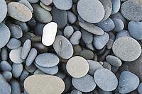 Closeup of rocks and pebbles on Rialto Beach Washington USA&#xA;<br />