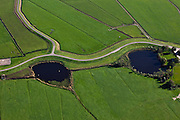 Nederland, Overijssel, Gemeente Zwartewaterland , 03-10-2010; Polder Mastenbroek, ten zuidoosten van Genemuiden. De kolken bij de Mastenbroekerdijk zijn ontstaan door dijkdoorbraken.  .Polder Mastenbroek, southeast of Genemuiden. The pools in the Mastenbroek dike are created by dike breaches..luchtfoto (toeslag), aerial photo (additional fee required).foto/photo Siebe Swart