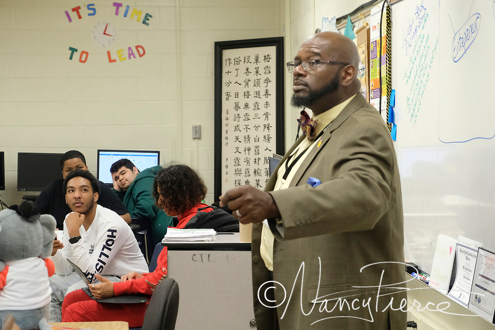 2018 South Learning Community Teacher of the Year Desmond Blackett, Olympic ELED
