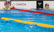 Bethany Firth of Great Britain breaks the World Record and wins Gold in the Women's 100m Backstroke S14 Final on Day One of the Rio Paralympics  in Rio de Janeiro, Brazil<br /> Picture by EXPA Pictures/Focus Images Ltd 07814482222<br /> 08/09/2016<br /> *** UK & IRELAND ONLY ***<br /> <br /> EXPA-SLO-160909-0016.jpg
