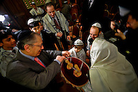 Before his election, Gilles Bernheim celebrated a bar mitzvah<br /> <br /> The election of Grand Rabbi of France took place on june 22, 2008. Aged 56, Gilles Bernheim becomes the Chief Rabbi of the synagogue de la Victoire in Paris. The new Grand Rabbi of France is elected for a seven years mandate and will be taking up his duties on the first of january 2009, according to the status of the central consistory.<br /> <br /> Gilles Bernheim won on opposition Joseph Sitruk and becomes the highest judaic french authority. Aged 56, Gilles Bernheim becomes the <br /> Chief Rabbi of the synagogue de la Victoire in Paris. He won by an overwhelming majority of 184 votes against 99, he is replacing Joseph Sitruk, 63, Chief Rabbi of France since 1988.<br /> <br /> On a trip to Toulouse in february to hold a conference, Gilles Bernheim stood for the second time in forteen years as candidate to Grand Rabbi of France against the outgoing Grand Rabbi Joseph Sitruk.<br /> <br /> Gilles Bernheim is an alternative at the hands of a too conservative current of the jew community, and is reputed to be the most opened to civil society and to other religions.<br /> <br /> The new Grand Rabbi of France is elected for a seven years mandate and will be taking up his duties on the first of january 2009, according to the status of the central consistory.