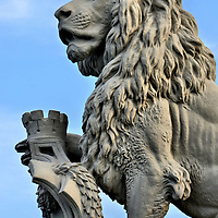 Lion Hafen Enge in Zurich, Switzerland<br />