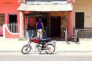 Motorcycle in Bauta, Artemisa, Cuba.