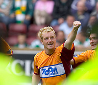 "Motherwell v Celtic, Scottish Premier League, Fir Park, Motherwell.  Pic ian Stewart, Saturday 30th July 2005<br /> Brian Kerr celebrtaes the equaliser for ""well"