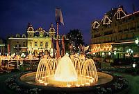 March 1998, Monte-Carlo, Monaco --- Fountain Outside the Monte Carlo Casino --- Image by © Owen Franken/CORBIS