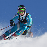 Chloe Margrethe Fausa, Norway, in action during the Women's Giant Slalom competition at Coronet Peak, New Zealand during the Winter Games. Queenstown, New Zealand, 23rd August 2011. Photo Tim Clayton