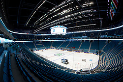 Overview of ice rink one day before at IIHF World Championship DIV. I Group A Kazakhstan 2019, on April 28, 2019 in Barys Arena, Nur-Sultan, Kazakhstan. Photo by Matic Klansek Velej / Sportida