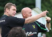 Photo: Maarten Straetemans.<br /> AGOVV Apeldoorn v Norwich City. Pre Season Friendly. 21/07/2007.<br /> Manager Peter Grant (left)