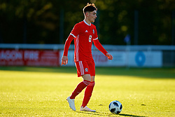 BANGOR, WALES - Monday, October 15, 2018: Wales' Brandon Cooper during the UEFA Under-19 International Friendly match between Wales and Poland at the VSM Bangor Stadium. (Pic by Paul Greenwood/Propaganda)