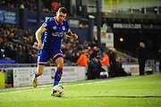 Mike Jones of Oldham Athletic during the Sky Bet League 1 match between Oldham Athletic and Blackpool at SportsDirect.Com Park, Oldham, England on 15 March 2016. Photo by Mike Sheridan.