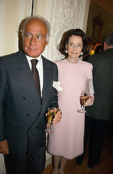 American social figure JAYNE WRIGHTSMAN and  JOHN STEFANIDIS at a party to celebrate the publication of 'A History of The English Speaking Peoples Since 1900' hosted by Andrew Roberts and Susan Gilchrist at the English-Speaking Union, 37 Charles Street, London W1 on 11th September 2006.<br /><br />NON EXCLUSIVE - WORLD RIGHTS
