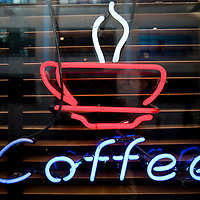 Coffee bar neon sign, Dublin, Ireland