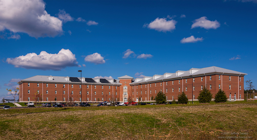 Exterior image of Bachelor Enlisted Quarters at Quantico Marine Base by Jeffrey Sauers of Commercial Photographics