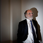Former New Jersey Governor Jon Corzine lectures at the Princeton University.