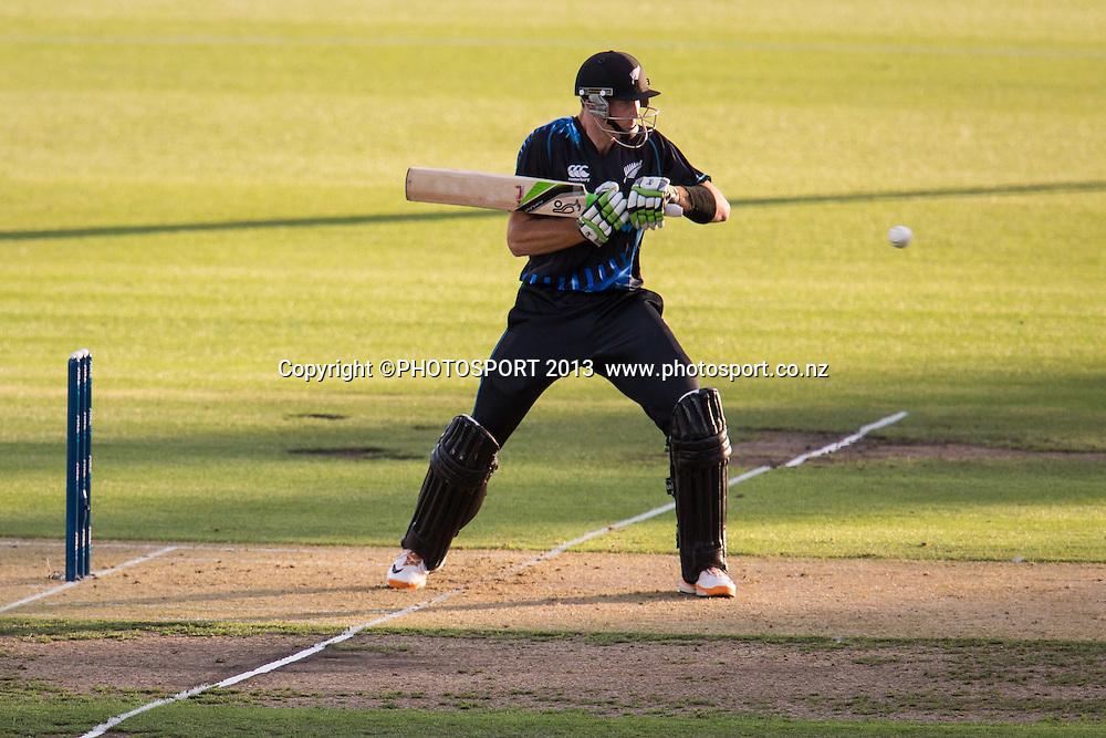 Martin Guptill during the ANZ T20 Series. 2nd Twenty20 Cricket International. New Zealand Black Caps versus England at Seddon Park, Hamilton, New Zealand. Tuesday 12 February 2013. Photo: Stephen Barker/Photosport.co.nz