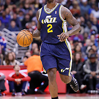 01 February 2014: Utah Jazz power forward Marvin Williams (2) brings the ball up court during the Los Angeles Clippers 102-87 victory over the Utah Jazz at the Staples Center, Los Angeles, California, USA.
